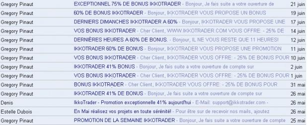 Ikko Trader Spam